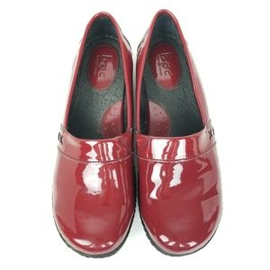 b.o.c. | patent red | loafer | clogs